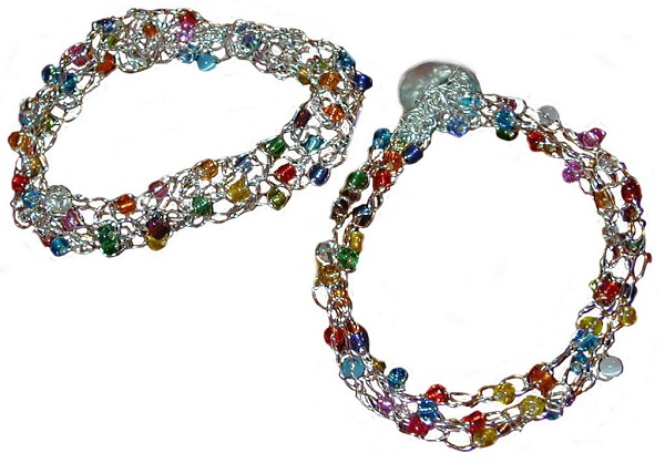 Multi Colored Seed Bead Wire Bracelet Pattern