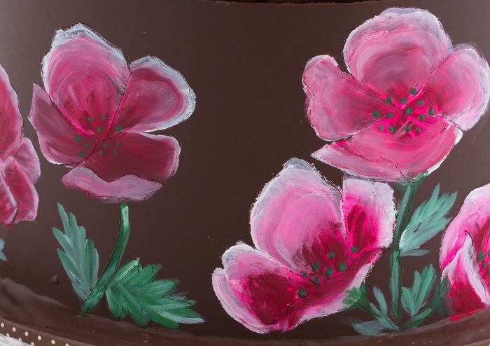 Painted flowers step9