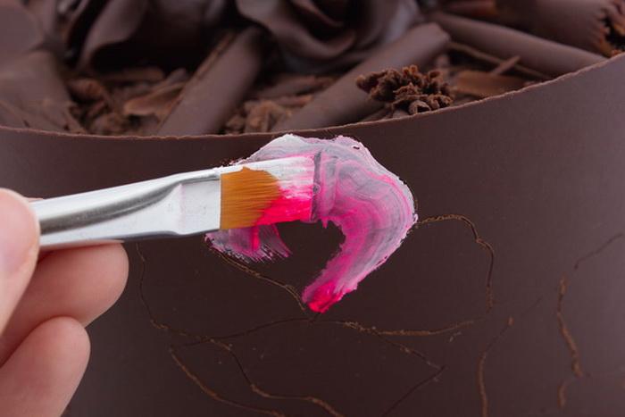 Painting a flower petal step5