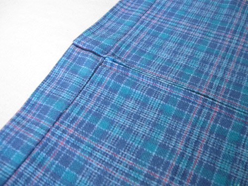 plaid fabric waistband