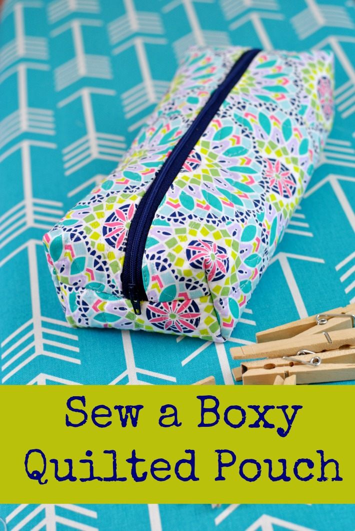 Boxy Quilted Pouch Tutorial