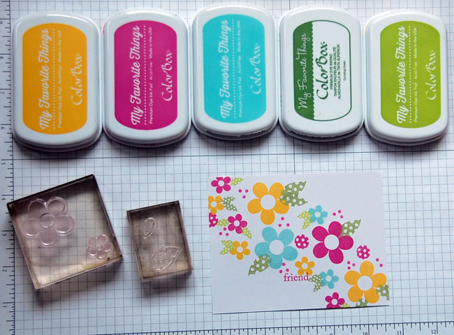 Supplies for Stamping Flowers