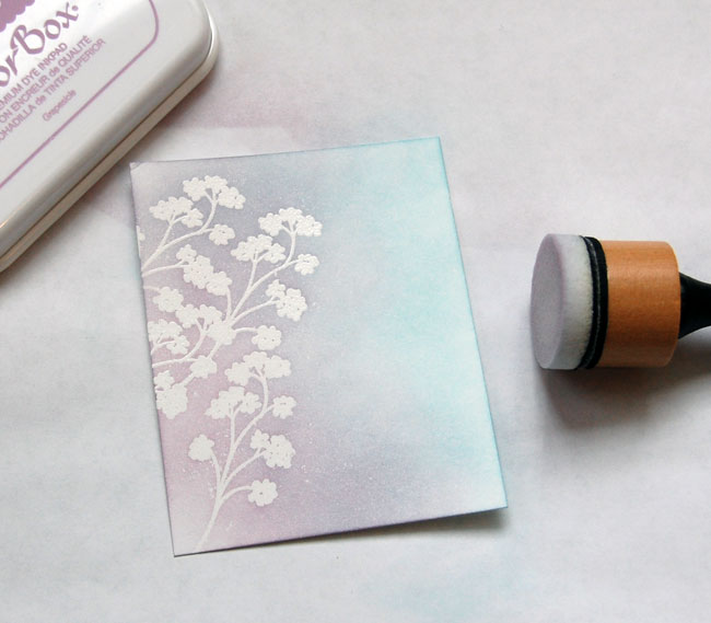 Step-5 Blend lightest purple ink