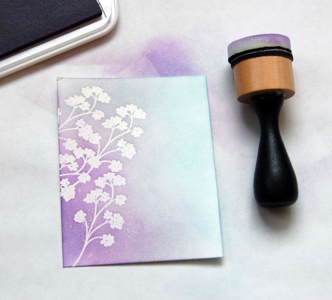 Step-6- Blend darker purple ink