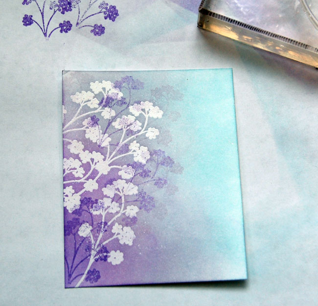 Step-7-Stamp additional flowers over embossed images