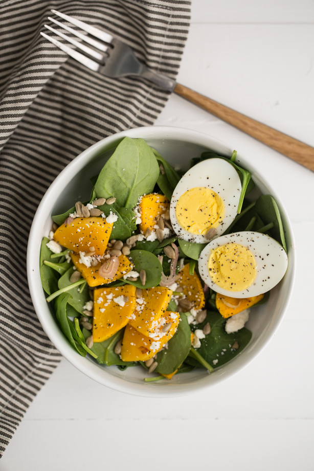 Roasted Squash and Hard Boiled Egg Salad