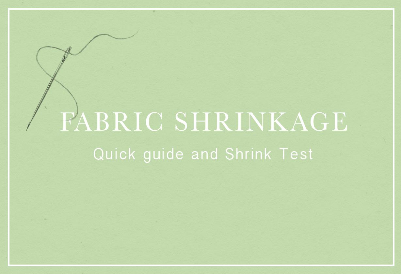 Fabric Shrinkage Title image