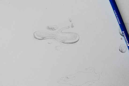 Drawing a puddle