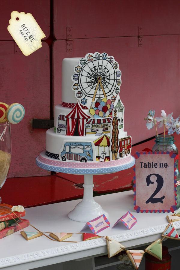 Vintage Fairground cake