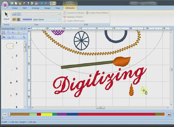 artistic digitizing screen