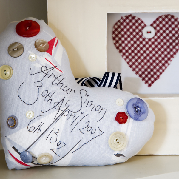 birth announcement heart by marna lunt