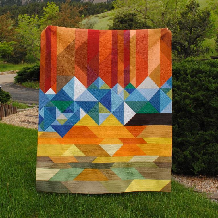 landscape pieced quilt