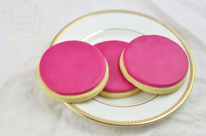 fondant covered cookies
