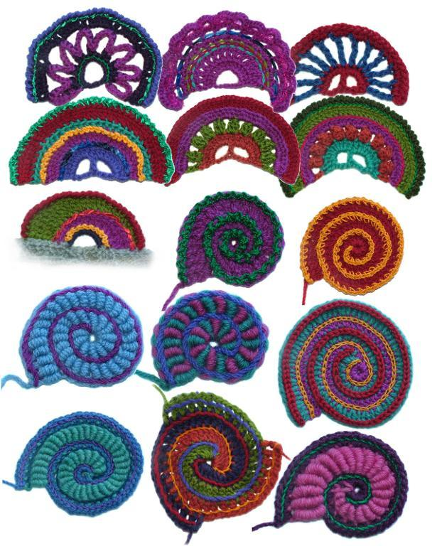 crochet spirals and scallops patterns