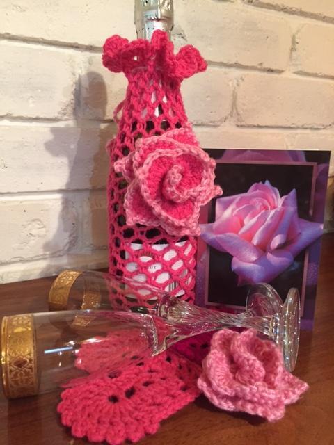 crochet wine bottle cozy