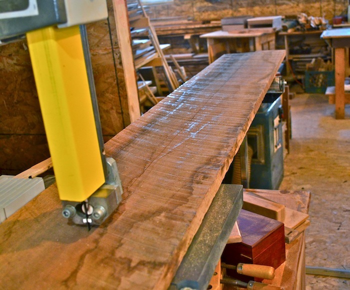 bandsaw rough lumber