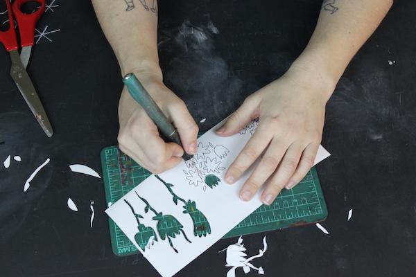 Cutting stencils out - progress