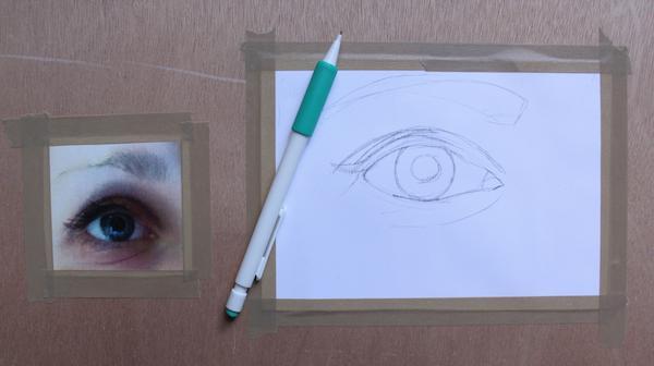 Sketching of eye