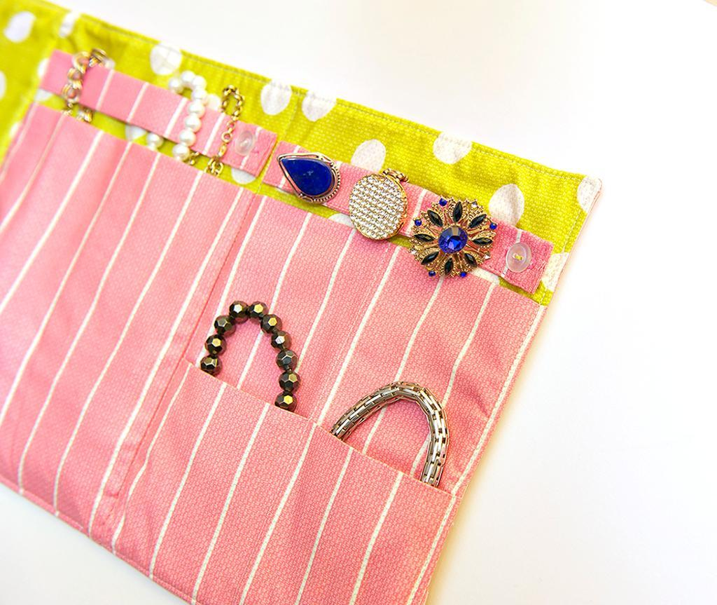 Jewelry roll sewing pattern