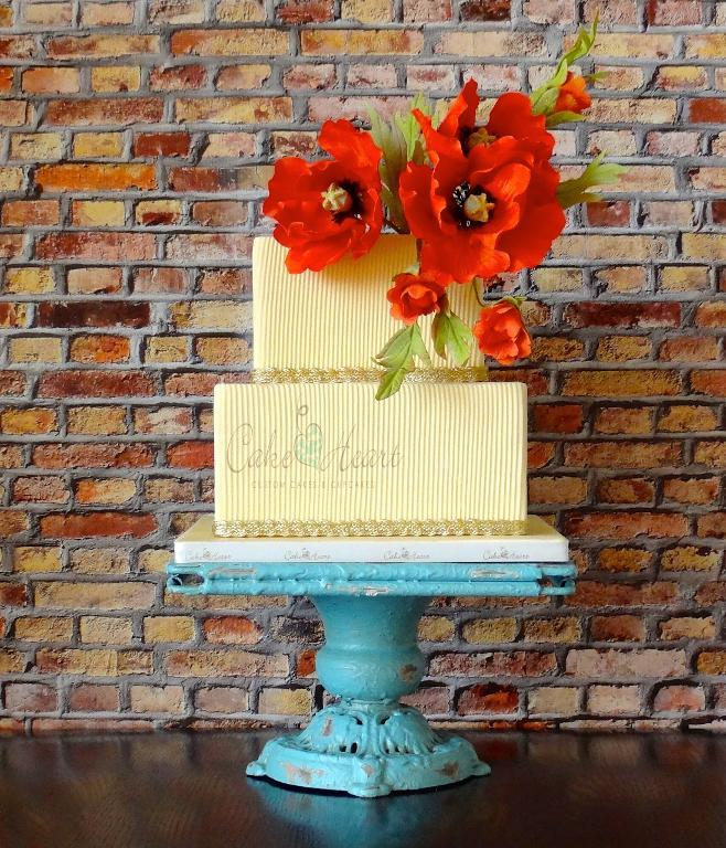 Bright Poppy Cake by Craftsy member Cakeheart