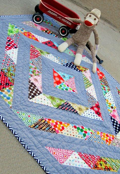 Perfect Prism Charm Friendly Baby Quilt
