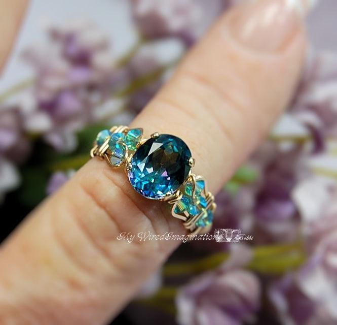 Peacock Blue Mystic Topaz - Marcella Crystal Ring 1 Tutorial