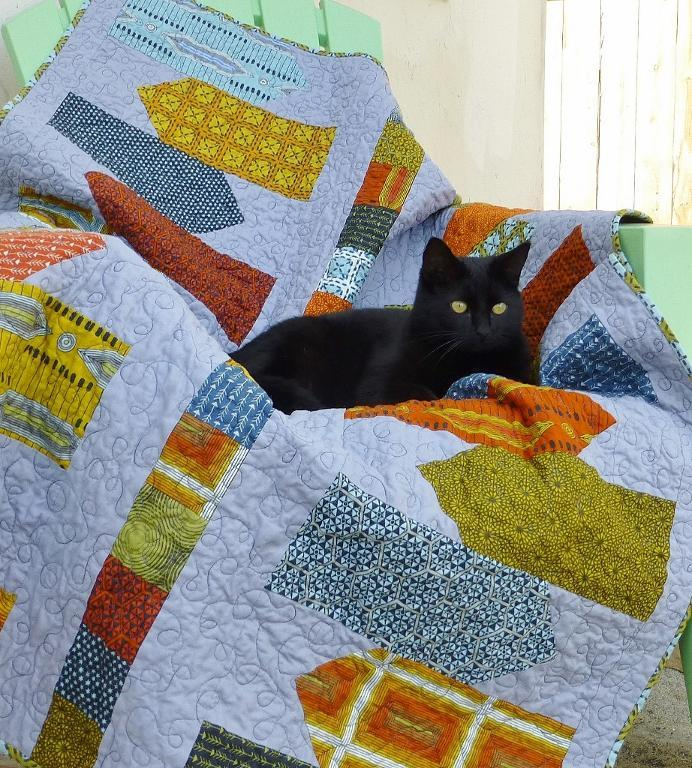 Directional Throw Quilt