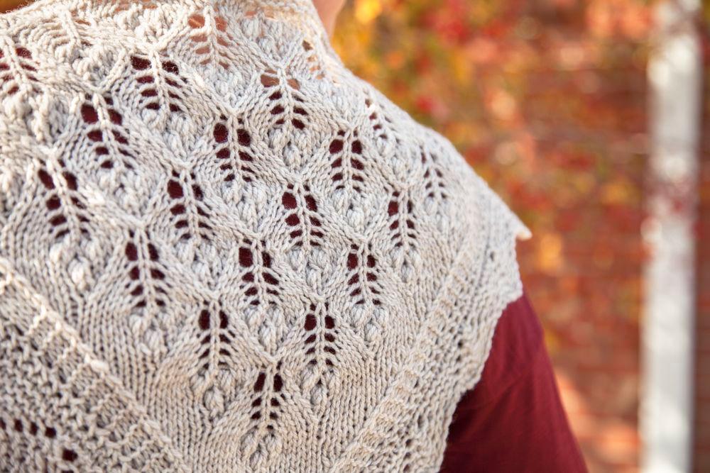 Lilac Leaf Scarf Sampler knitting pattern