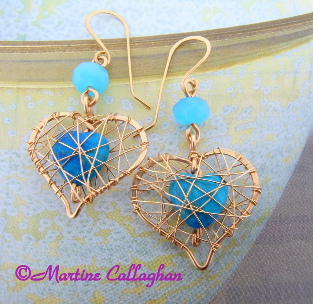 Woven Heart Earrings and Pendant jewelry tutorial