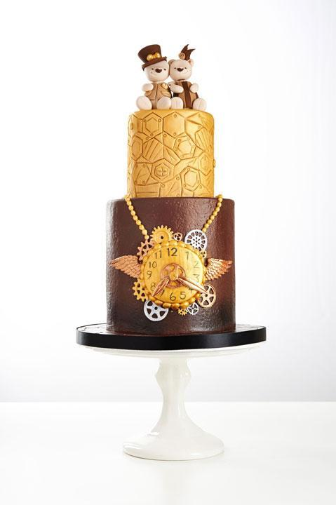 Steampunk Teddy Bear Wedding Cake by Craftsy instructor Tracey Rothwell