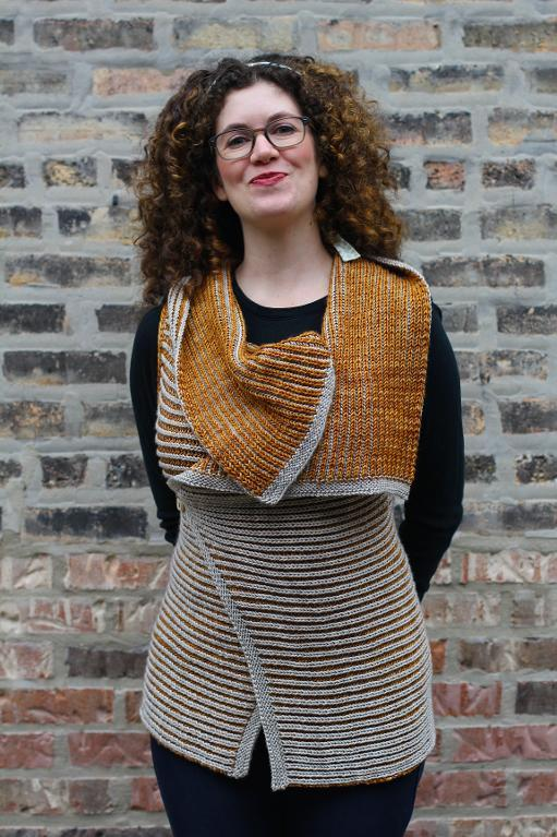 Beech Street Vest brioche knitting pattern