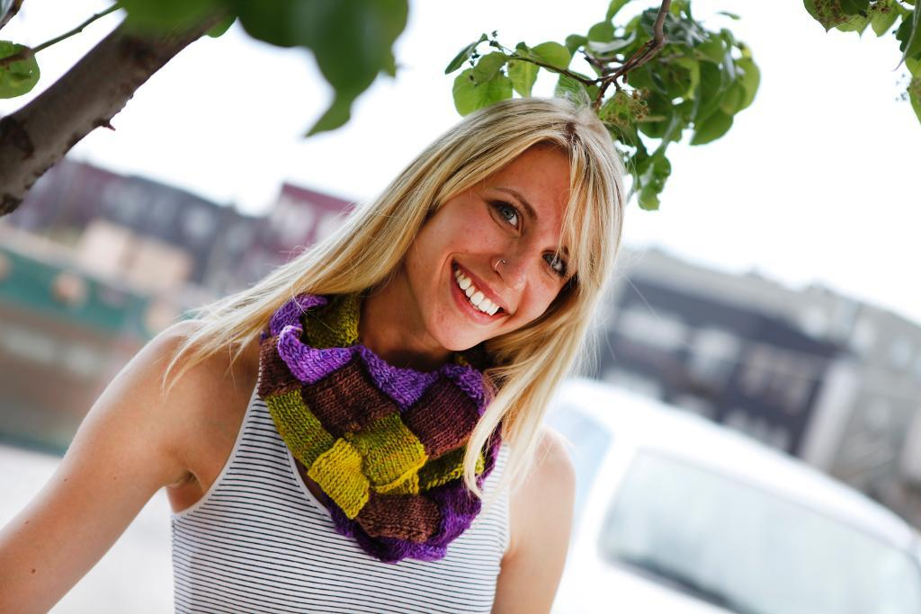 Knitted Entrelac Neck Warmer