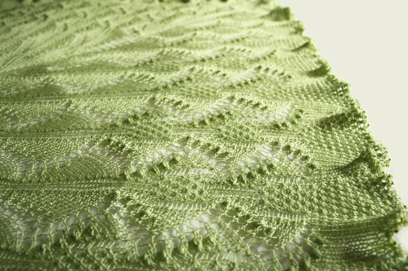 Pasque Flower Shawl knitting pattern