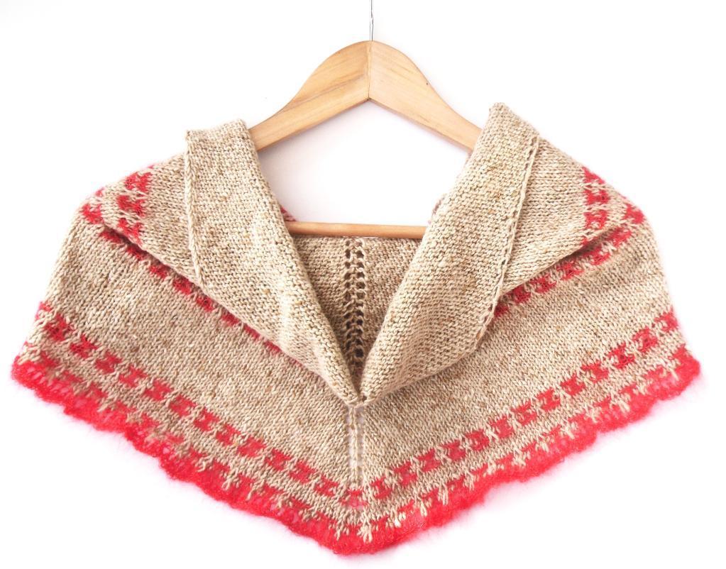 Tweedy Mosaic Shawl knitting pattern