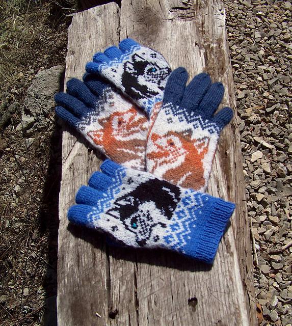 Dog Show Gloves knitting pattern