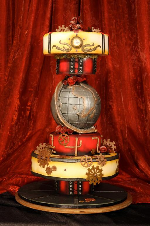 Towering Steampunk Cake by Craftsy member Chef Sam