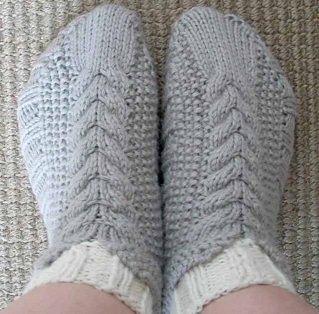 Cabled Cozies Slippers knitting pattern