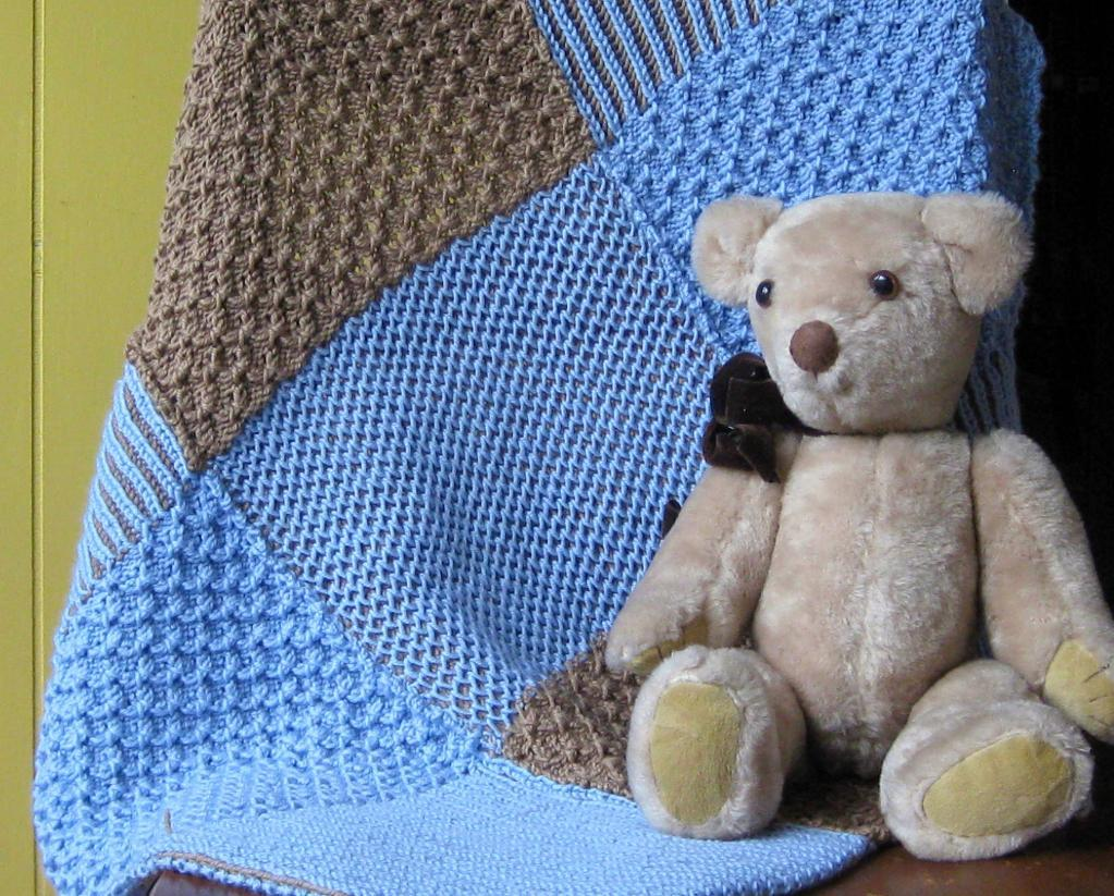 Brioche Nine Patch Blanket knitting pattern