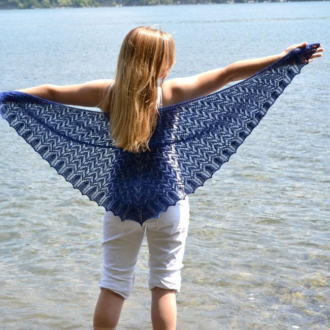 Shale Beach Lace Triangle Shawl knitting pattern