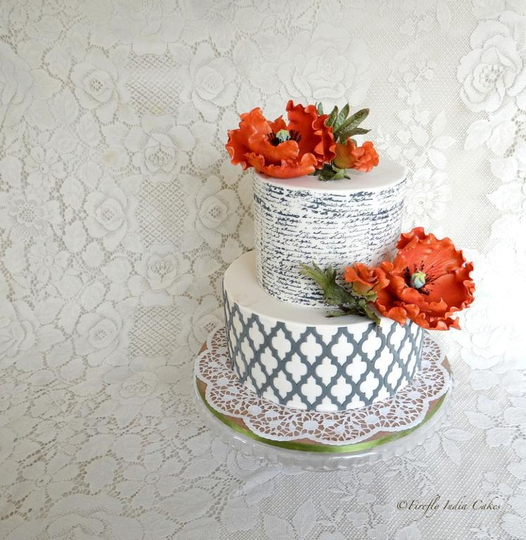 Poppy and Letter Cake by Craftsy member Firefly.India