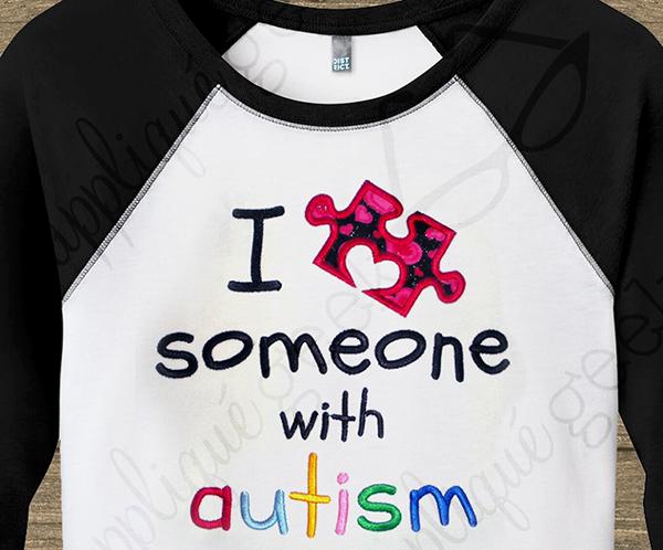 Puzzle Piece Someone with Autism design
