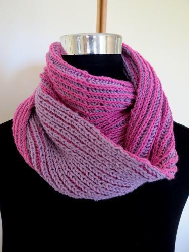 Oudtshoorn Brioche Cowl knitting pattern