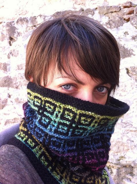 Technicolor Mosaic Cowl knitting pattern