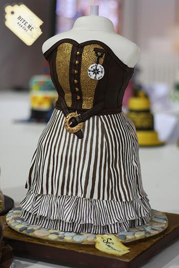 Steampunk Fashion Cake by Craftsy member CakeBakerMoney