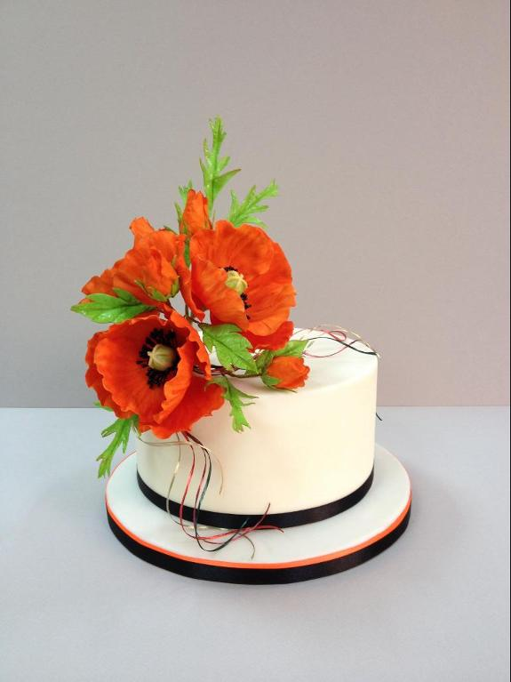 Poppy cake by Craftsy member Manal Sugar Art