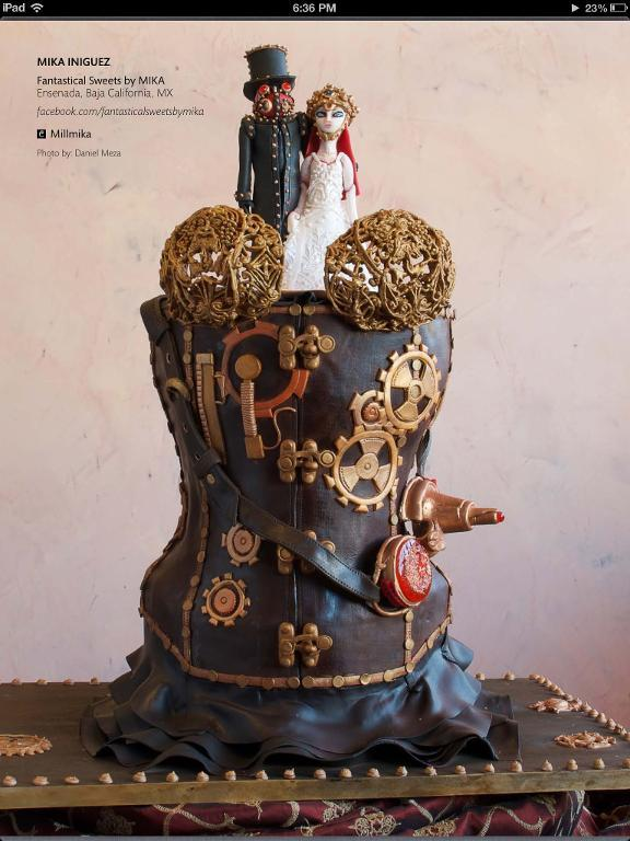 Steampunk Corset Cake by Craftsy member Millmika3
