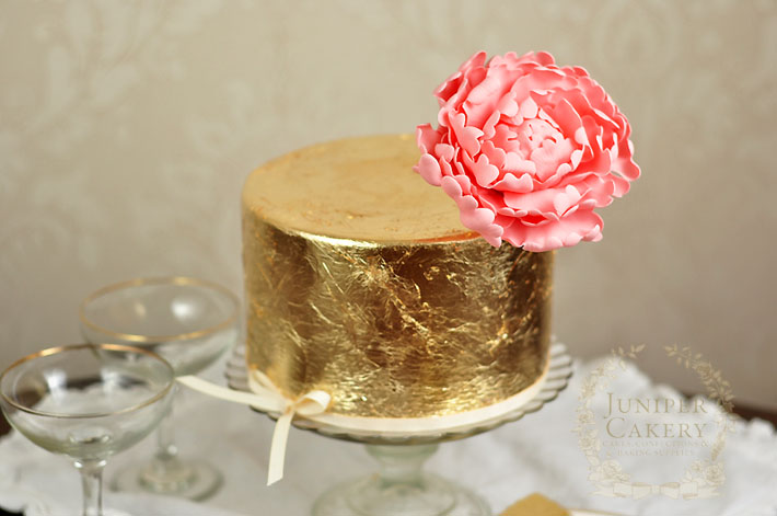 Add a touch of luxury to your next cake with this tutorial on how to add edible gold