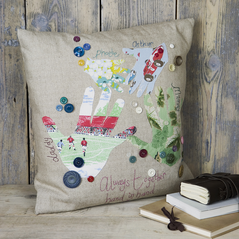 handprint cushion marna lunt