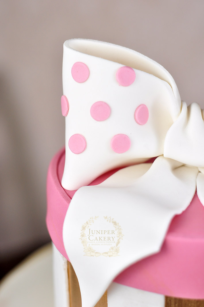 How to add polka dots to a cake