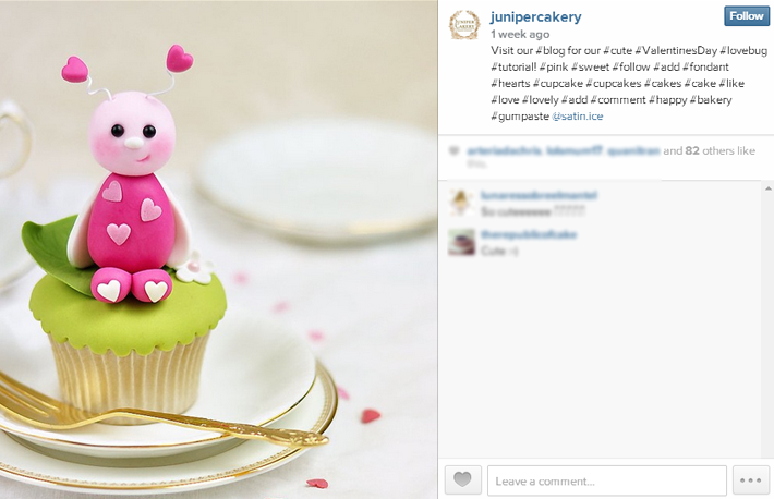 How to use instagram for a cake business